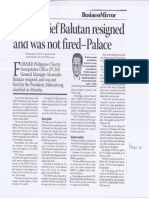 Business Mirror, Mar. 12, 2019, PCSO chief Balutan resigned and was not fired - Palace.pdf