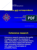 Coherence Correspondence