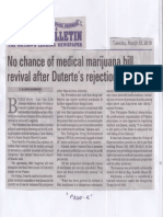Manila Bulletin, Mar. 12, 2019, No chance of medical marijuana bill revival after Duterte's rejection - Atienza.pdf