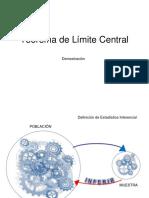 Teorema de Limite Central (Demostracion) 2015