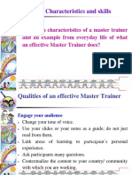 Characteristics and Skilled Required by Master Trainers