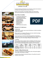 Fact Sheet - Country Inn Amritsar