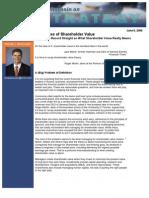 In Defense of Shareholder Value