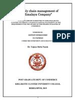 Supply chin Management of Himalaya Company.docx