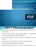 BCOM CADepartment Profile PPT