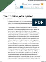 Teatro Leido, Otra Opcion