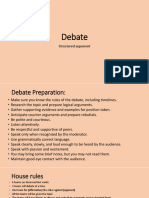 Debate Preparation Guide