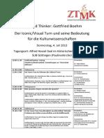 Programm Ztmk Gottfried Boehm