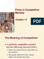 Lecture - 9 - Chapter 14 - Firms in Competitive Markets
