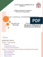 Capital Investissement Partie Mouhcine Mohammed