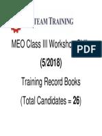 MEO Class III Workshop Skills