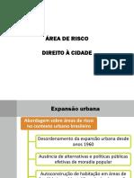 area de risco  e direito a cidade