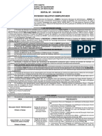 Processo Seletivo Semed Edital 016-2018