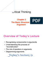 Lecture 2 the Basic Structure of Argument