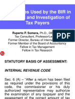 Tech. Used by the BIR in Tax Audit and Investigation of Tax Payers (10.29.13)