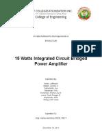 15 Watt Integrated Circuit Power Amplifier Documents.doc