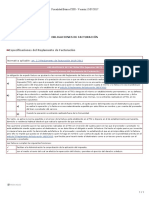 Obligaciones de Facturación
