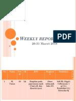 Weekly Report 26 Maret