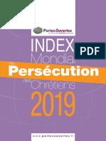 Index mondial de la persécution des Chrétiens en 2019