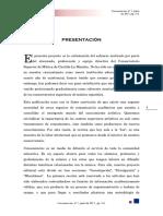 Revista Consonancias Nº1 - Presentación