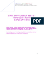 Datasuficiency Tests 1- 6 and Explanations