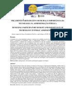 ORÇAMENTO PARTICIPATIVO MUNICIPAL E IMPORTÂNCIA DA TECNOLOGIA.pdf
