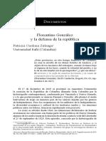 Zuluaga - Documentos Florentino González y la defensa de la república - 2014.pdf