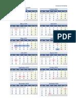 Calendario 2019 Una Pagina