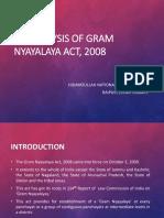 An Analysis of Gram Nyayalaya Act, 2008 FDR.pptx