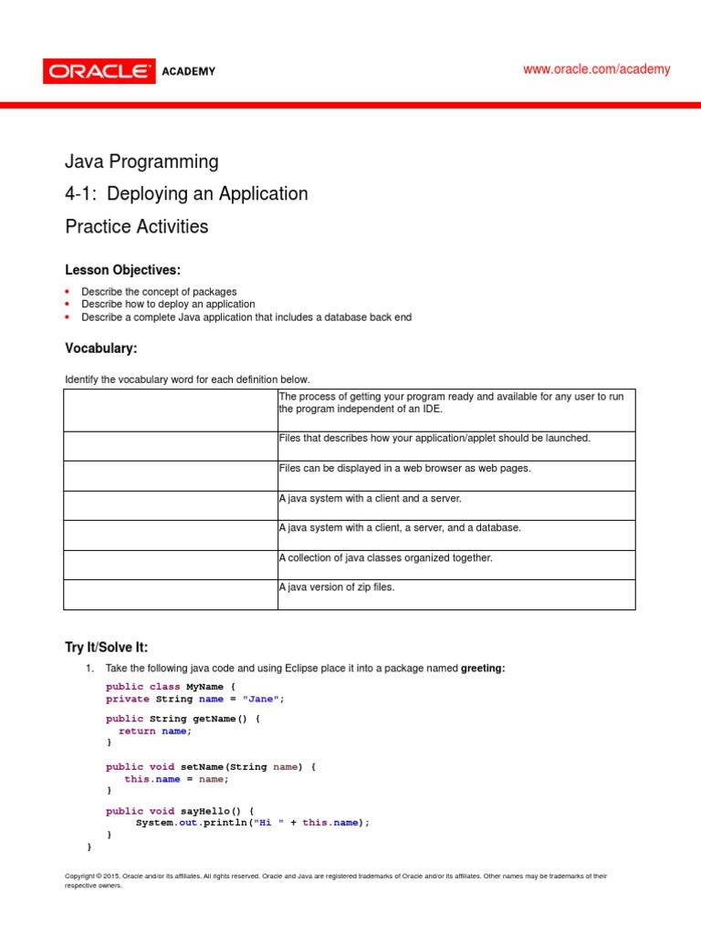 JP_4_1_Practice | Java (Programming Language) | Application Software