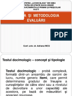 Testul Docimologic. Itemi de Evaluare