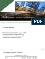 Computing Seismic Loads Using Dynamic Analysis