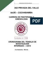 CRONOGRAMA FISIOTERAPIA 2019