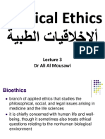 Medical Ethics L (3)