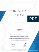 Billy - RPA Develeper Certification Uipath
