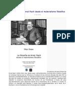 La Filosofía de Ernst Mach Desde El Materialismo Filosófico