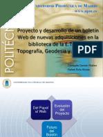UPM Proyecto Boletin Digital Adquisiciones Biblioteca