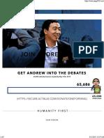 Yang 2020, Andrew Yang for President