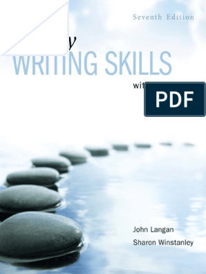 7th Edition John Langan Sharon Winstanley Essay Writing Skills With Readings 2014 Mcgraw Hill Ryerson Pdf Essays Apa Style