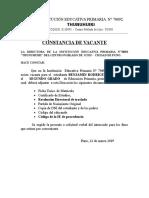 Constancia de Vacante IEP 70092