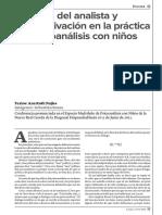 El deseo del analista y la subjetivación en la práctica del psicoanálisis con niños. Ana Ruth Najles.pdf