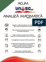 10 BAREM Varianta Oficială BAC Matematica Stiințele Naturii (23 Aug 2017)