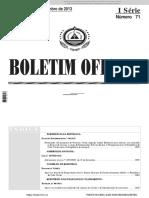 Lei Nº 51 - 2013 - Aditamento Lei de Base Do IVA