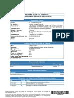 Certificado de Envio