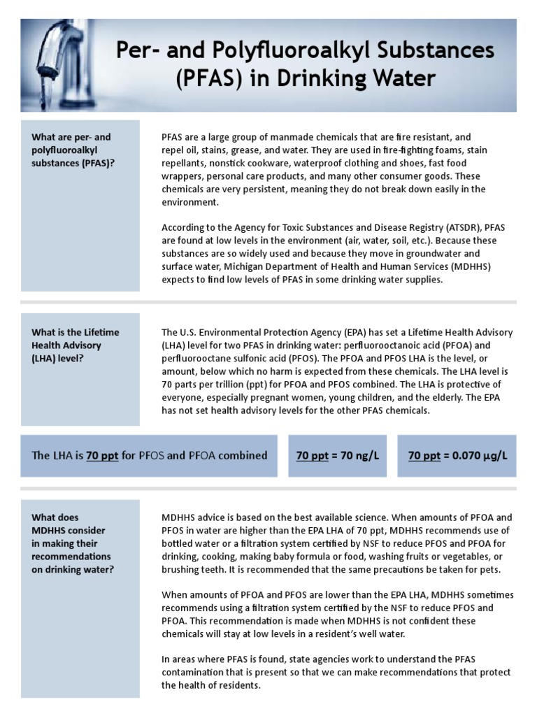 PFAS in Drinking Water | Drinking Water | Public Health