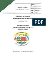 reglamento interno escuela bilingue rep de nic