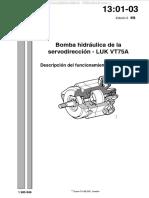 Manual Bomba Hidraulica Servodireccion Luk Vt75a Scania Funcionamiento Valvulas Trabajo Componentes