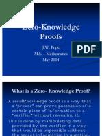 Zero KnowledgeProofsII