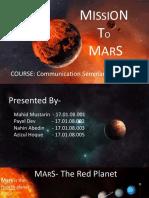 Presentation on Mission to Mars