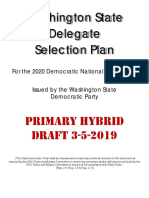 Washington State Democratic Party 2020 **DRAFT** Delegate Selection Plan [PRIMARY]